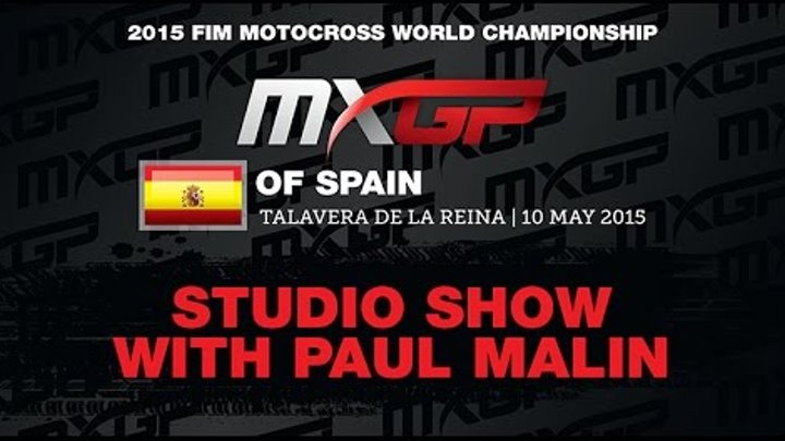 MXGP of Spain Studio Show with Evgeny Bobryshev & Max Anstie
