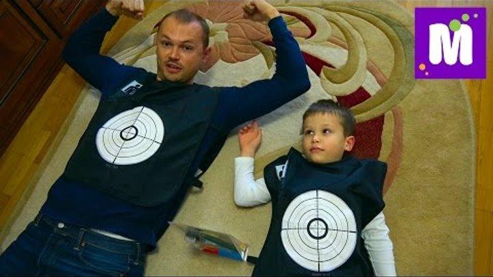 Стрельба по кровавым целям ОРЕО в знак перемирия и Снимаем отпечатки пальцев с оружия преступника