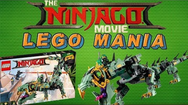 The LEGO NINJAGO movie  Обзор на механического дракона зеленого ниндзя Ллойда   Lego Mania