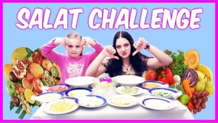 SALAT CHALLENGE cu Laura si Betty transmitem provocarea canalului Irochka info