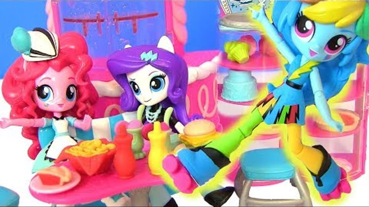 MLP Sweet Snacks Cafe Pinkie Май Литл Пони Мультик! КАФЕ ПИНКИ ПАЙ! Equestrian Girls Видео для Детей