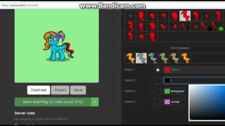 Как начать играть в пони таун?!Как создать пони в пони тауне?!