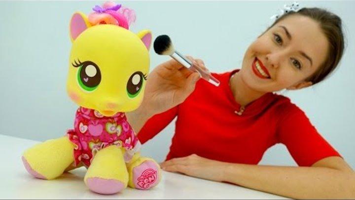 Видео для детей для самых маленьких про #ПОНИ. #Литлпони в салоне красоты. Игры макияж