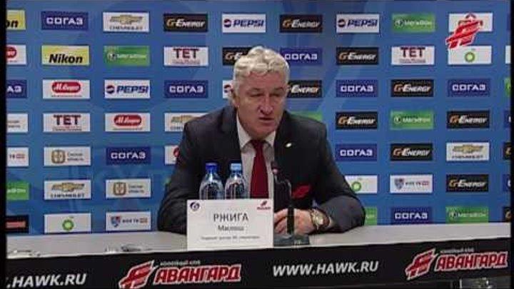 """Авангард"" - ""Автомобилист"", пресс-конференция 03.11.2013"