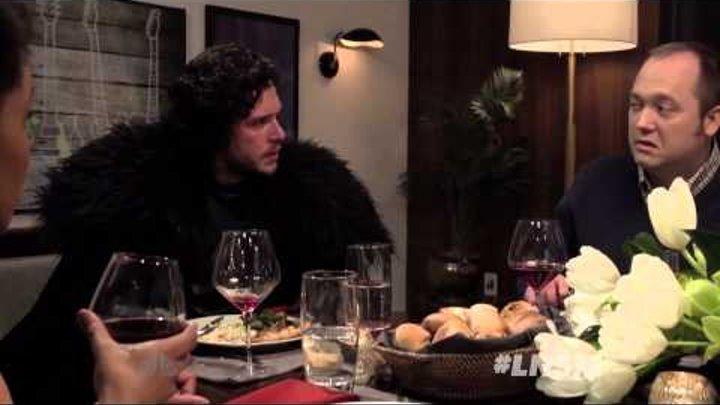 «Игра престолов»: Джон Сноу на ужине у Сэта Мейерса (с русскими субтитрами)