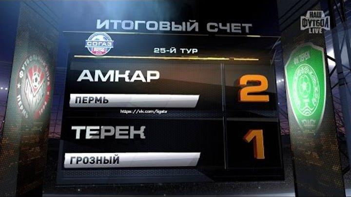 Обзор матча: Футбол. РФПЛ. 25-й тур. Амкар - Терек 2:1