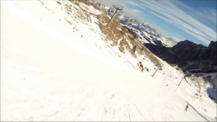 GoPro HD Hero -Ski slope in the Alps (Лыжный спуск в Альпах) - part 3