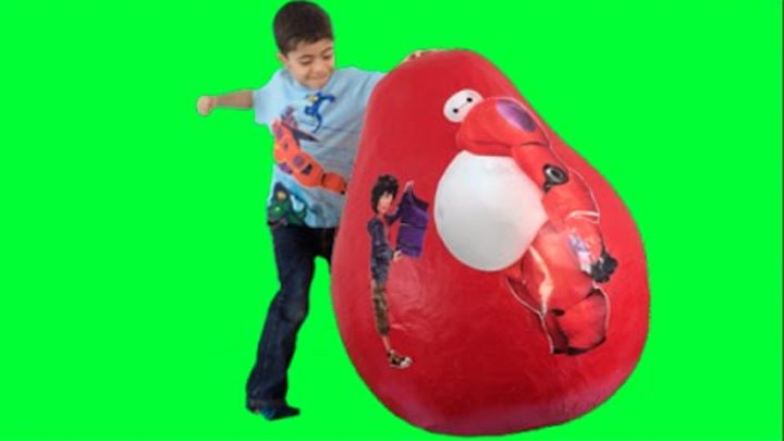 Disney Big Hero 6 Baymax, Hiro Supergiant Egg Unboxing – New Toys + Fist, Kinder Egg