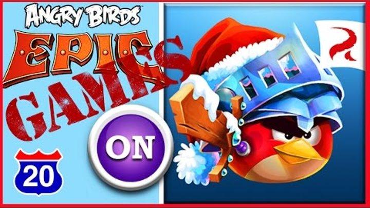 Как пройти Минное Поле Angry Birds Epic RPG #20 2016 Видео игра для детей дети и родители Обзор игры