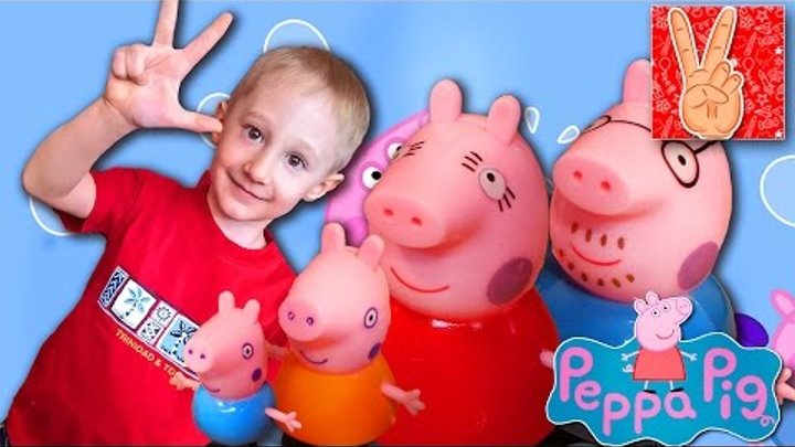 Игрушка Свинка Пеппа, и ее семья. Домик Свинки Пеппы распаковка с Vladislav Time (Peppa Pig toys)
