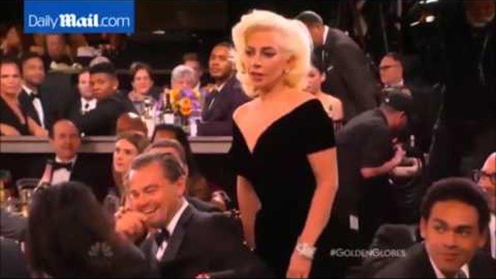 Леонардо Ди Каприо опять не получил Оскара 2016. Плачет Лео и смотрит на леди Гагу.