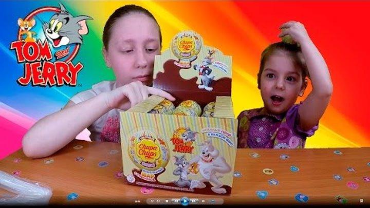 Новая серия Том и Джерри. Катя с Дашей распаковывают упаковку киндер сюрприз Том и Джерри