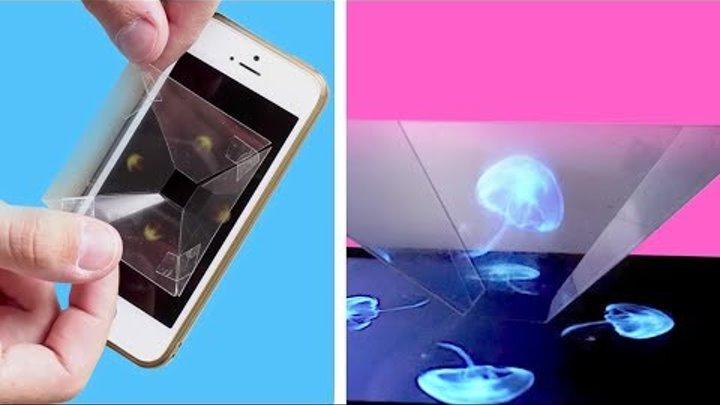 Er zerschneidet die Folie und legt sie aufs Handy. Was dann passiert ist atemberaubend.