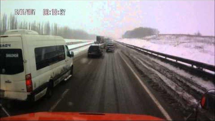 Хроника одной пробки 09 02 14 Воронежская область