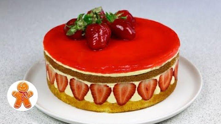 "Клубничный торт ""Фрезье"" (Frasier Torte / Frasier Cake)"