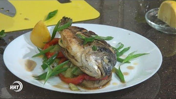 Простой рецепт рыбы с овощами