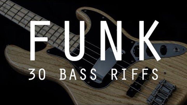 30 FUNK BASS RIFFS /// Bruno Tauzin