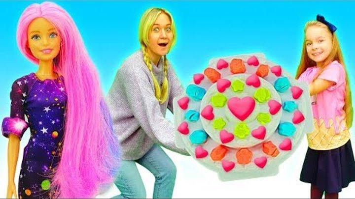 Игры с Барби и play doh наборы - пластилин Плей До для детей