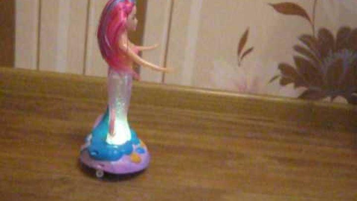 Кукла русалка - музыкальная игрушка, свет, музыка, каталка.