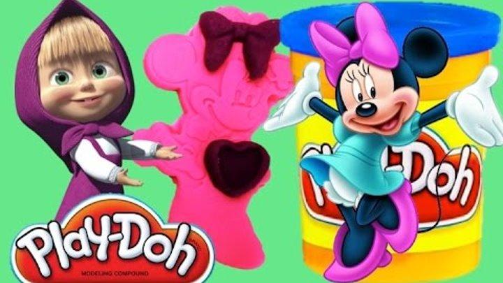 Play doh Minnie Mouse Disney Masha i Medved Плей до Минни Маус Маша и медведь
