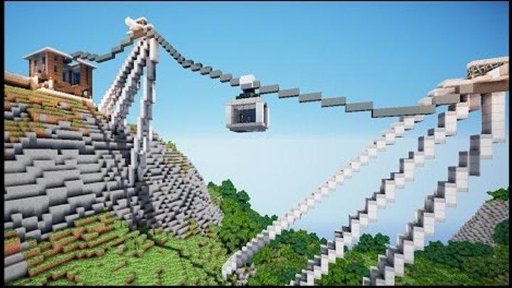 Канатная дорога в майнкрафт №3 - Серия 25 - Minecraft - Строительный креатив 2