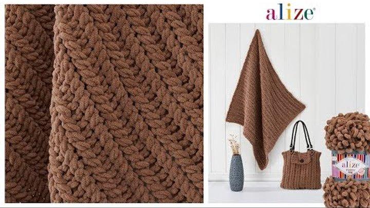 Battaniye ve Çanta yapımı - Bag and Blanket tutorial with Alize Puffy Fine