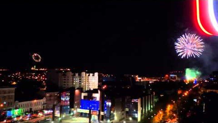 Фейерверк на день Победы над Саратовом