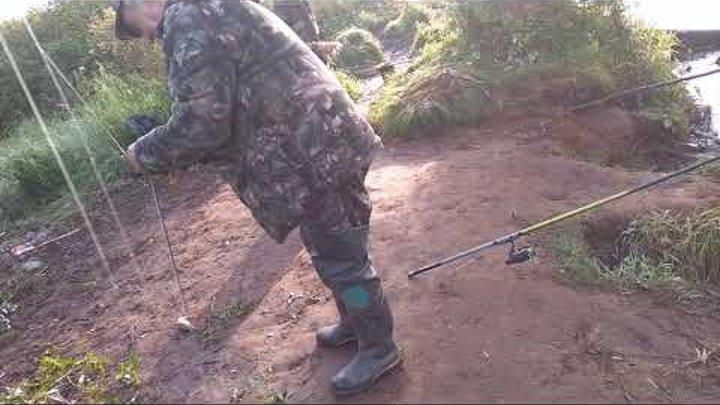 Рыбалка на речке Ендырь#Много рыбы