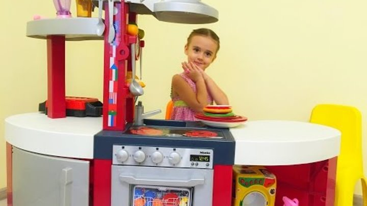 Кухня игрушечная с приборами Детская кухня игрушка Kids Toy Kitchen - Review and Pretend Cooking