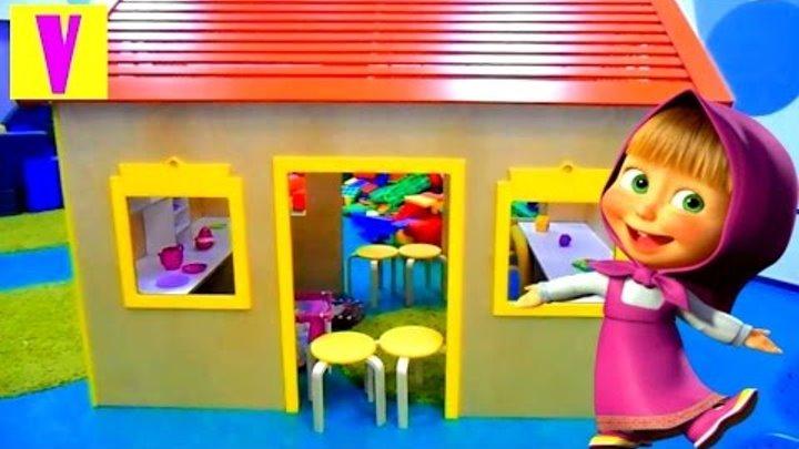 Маша и Медведь на кухне с Машей Развлечение для детей Кухня Mom's новые серии мультик от HappyVova