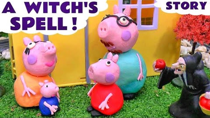 Peppa Pig Play Doh Witch's English Episode   Thomas & Friends Shopkins Batman Monsters Inc