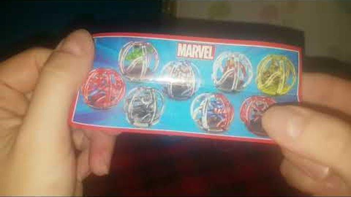 #КапитанАмерика #Мстители #Marvel #Kindersurprise #unboxing Сюрпризы для мальчиков по комиксам