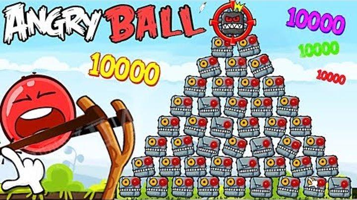 99999 ПОДРЫВНИКОВ КВАДРАТОВ И КРАСНЫЙ ШАРИК в Энгри Бердз Red Ball 4 in Angry Birds Мультик про шар
