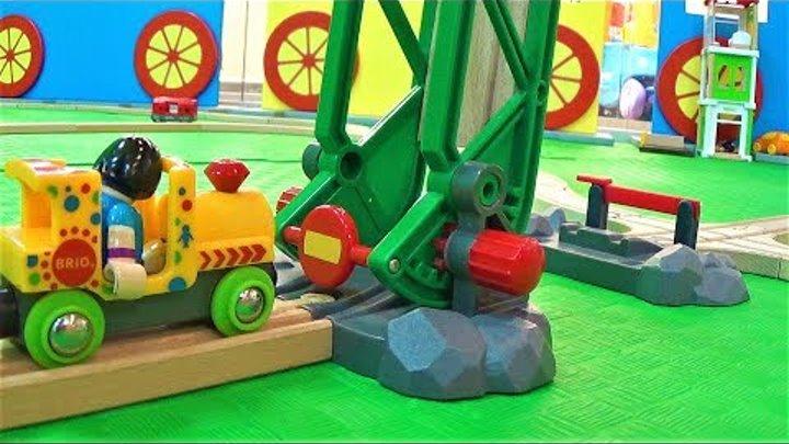Деревянный Томас и Брио поезд деревянная железная дорога и поезда видео про игрушки для мальчиков