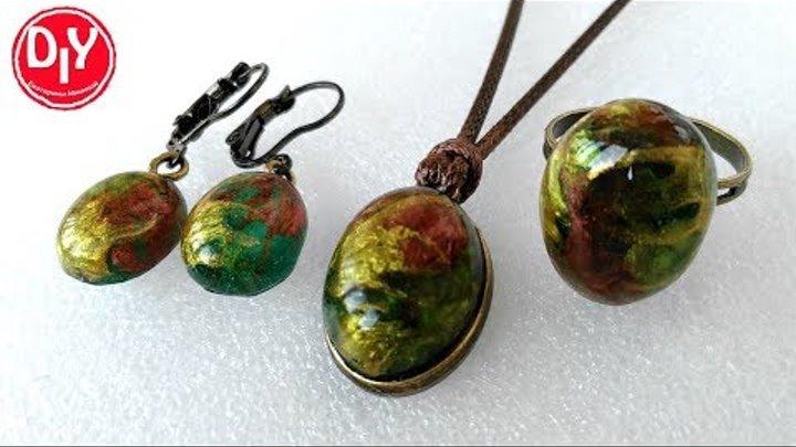 Набор украшений из эпоксидной смолы/jewelry made of epoxy resin