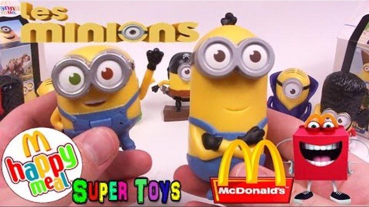 Миньоны игрушки Хеппи Мил МакДональдс Minions toys Unboxing Happy Meal McDonalds 2015