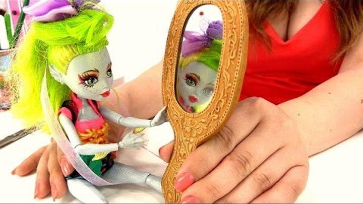 Видео для девочек. Заколка своими руками для Лагуны. Куклы Монстр Хай