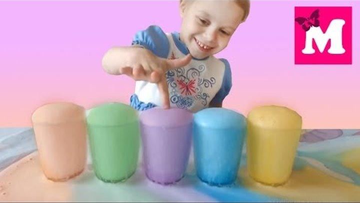 ✽ ЦВЕТНАЯ ПЕНА Как Сделать Новые Серии от Машулька ТВ new toys unboxing Опыты для Детей