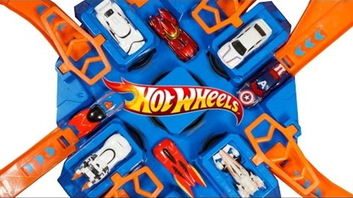 HOT WHEELS TRACK CRISS CROSS CRASH WRECK BMW STAR WARS IRONMAN SUPERMAN BATMAN DARTH VADER CARS