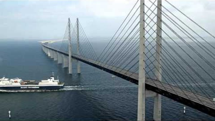 Удивительный мост превращается в тоннель Дания и Швеция