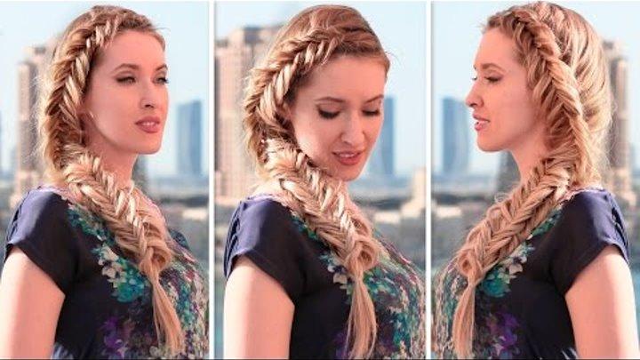 Причёска на каждый день своими руками с плетением колосок в стиле Эльзы, Холодное Сердце