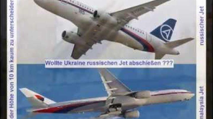 Falscher Flugzeug ??? Wer hat es getan ??? Malaysia MH17