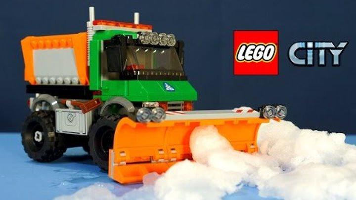 Лего Сити 60083 Снегоуборочный Грузовик - набор 2015 года - обзор на русском. Snowplow Truck