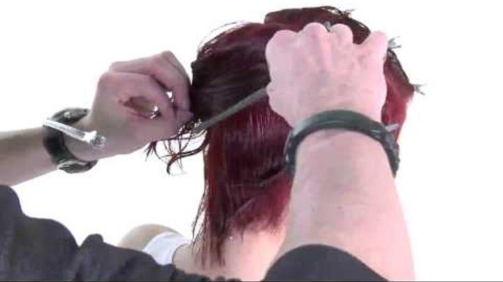 Круглая градуировка на коротких волосах - видео-урок по классической салонной стрижке