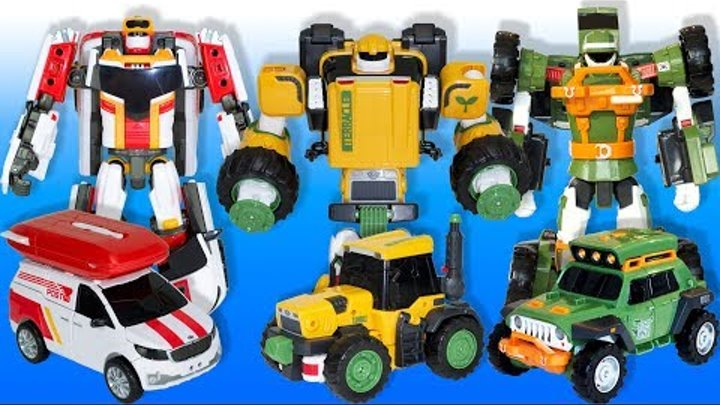 Тоботы трансформеры: Тобот K, Тоботы Карго и Терракл, База Тоботов, профессор Но и песобот