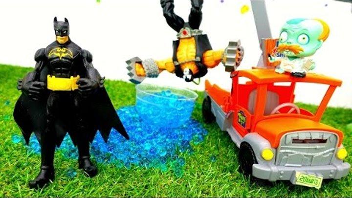 ☠️ Видео с игрушками. Про супергероев: #БЭТМЕН против ➡️️ БЭЙНА. Миссия - СПАСТИ ГОРОД