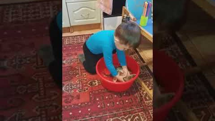 детская история РЫБАЛКА ДОМА,живая игрушка,реакция ребёнка на рыбу