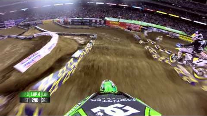 GoPro HD: James Stewart and Ryan Villopoto Main Event 2014 Monster Energy Supercross from San Diego