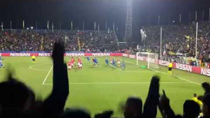 Матч Ростов - Бавария - 3:2. Победный гол Нобоа. Взгляд с Западной трибуны (23.11.2016)