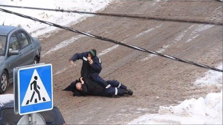 Под Наро-Фоминском рабочие устроили жестокую драку - Подмосковье 2018 г.
